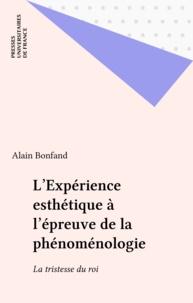 Alain Bonfand - L'expérience esthétique à l'épreuve de phénoménologie - La tristesse du roi.