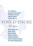 Alain Borne et Jacques Lacarrière - Voix d'encre - 30 ans.