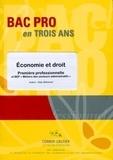 Alain Brémond - Economie et droit 1e Bac pro et BEP métiers des secteurs administratifs.