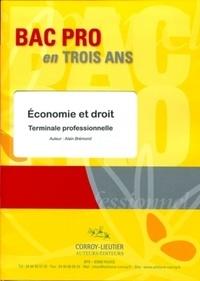 Alain Brémond - Economie et droit terminale professionnelle.