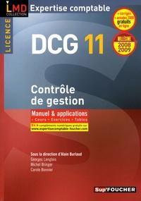 Alain Burlaud - Contrôle de gestion DCG11 - Manuel et applications, Cours, Exercices, Tables.