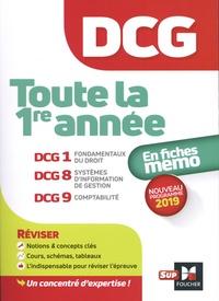 Alain Burlaud et Françoise Rouaix - DCG 1ère année en fiches mémo - DCG1 fondamentaux du droit, DCG8 Systèmes d'information de gestion, DCG9 comptabilité.