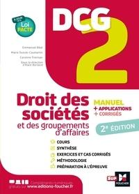 Alain Burlaud - DCG 2 Droit des sociétés et autres groupements d'affaires - Manuel, applications, corrigés.