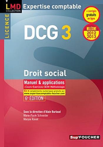 Alain Burlaud - DCG 3 Droit social.