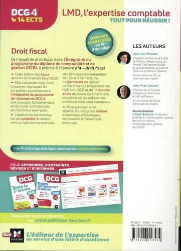 DCG 4 Droit fiscal. Manuel, applications, corrigés  Edition 2020-2021