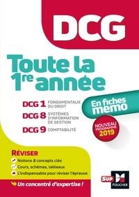 Alain Burlaud et Françoise Rouaix - DCG : Toute la 1ère année du DCG 1, 8, 9 en fiches - Révision.