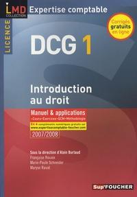Alain Burlaud et Françoise Rouaix - Introduction au droit DCG1 - Manuel et applications.