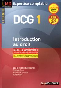 Alain Burlaud - Introduction au droit DCG1 - Manuel et applications.