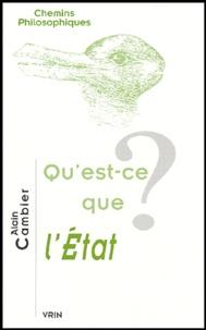 Alain Cambier - Qu'est-ce que l'Etat ?.