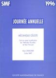 Alain Chenciner et Carles Simo - Mécanique céleste.