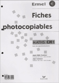 Alain Colenson et Marie-Odile Fromherz - Maths CM1 - Fiches photocopiables.