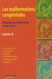 Alain Couture et Catherine Baud - Les malformations congénitales - Diagnostic anténatal et devenir Tome 6.