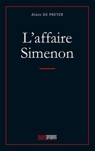 Alain de Preter - L'affaire Simenon.