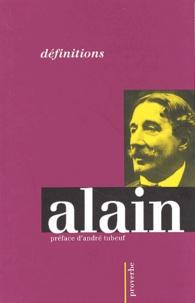 Alain - Définitions.