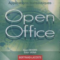 CD Rom d'accompagnement Applications bureautiques avec Open Office - Alain Dehors pdf epub