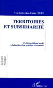 Deedr.fr TERRITOIRES ET SUBSIDIARITE. L'action publique locale à la lumière d'un principe controversé Image