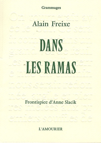 Alain Freixe - Dans les ramas.