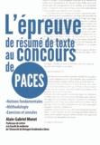 Alain-Gabriel Monot - L'épreuve de résumé de texte au concours de PACES.