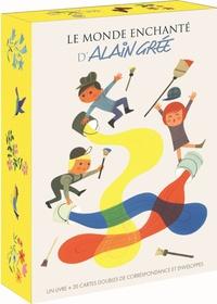 Alain Grée - Coffret Le monde enchanté d'Alain Grée - Contient 1 livre et 20 doubles cartes de correspondance et enveloppes.