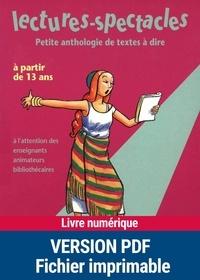 Alain Héril et Dominique Mégrier - Lectures-spectacles - Petite anthologie de textes à dire.