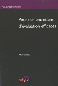 Pour des entretiens d'évaluation efficaces - Alain Hosdey |