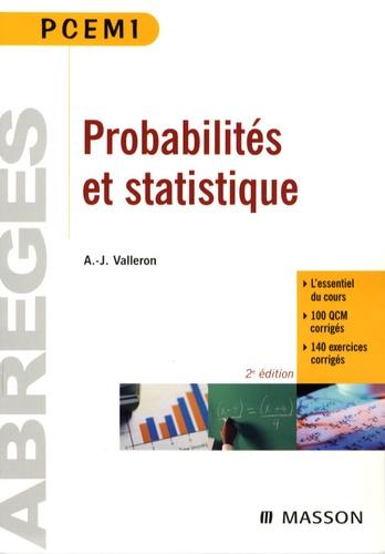 Alain-Jacques Valleron - Probabilités et statistiques - PCEM 1 Pharmacie Deug SVT.