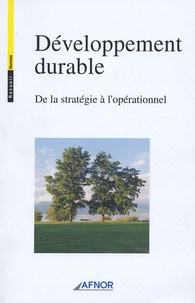 Alain Jounot - Développement durable - De la stratégie à l'opérationnel.