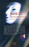Alain Jugnon et Alain Badiou - Avril-22 - Ceux qui préfèrent ne pas.