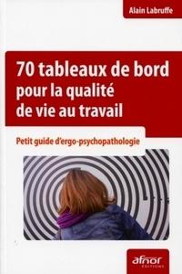 Alain Labruffe - 70 tableaux de bord pour la qualité de vie au travail - Petit guide d'ergo-psychopathologie.