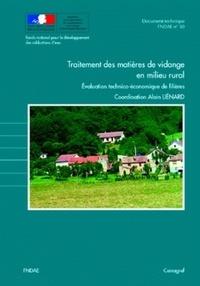 Alain Liénard - Traitement des matières de vidange en milieu rural - Evaluation technico-économique de filières.