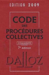 Alain Lienhard - Code des procédures collectives 2009 commenté.