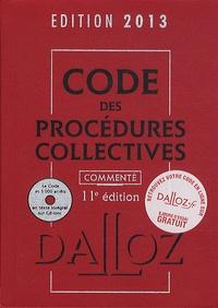 Alain Lienhard et Pascal Pisoni - Code des procédures collectives 2013 commenté. 1 Cédérom