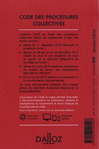 Code des procédures collectives. Annoté & commenté  Edition 2020
