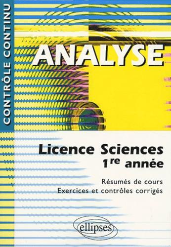 Alain Mignotte et Josiane Nervi - Analyse - Licence Sciences 1ere année.