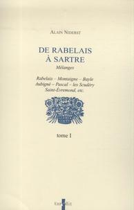 Alain Niderst - De Rabelais à Sartre - 4 volumes.