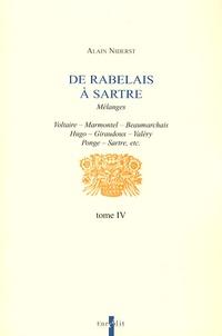Alain Niderst - De Rabelais à Sartre - Tome 4.