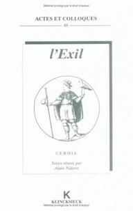 Alain Niderst - L'exil.