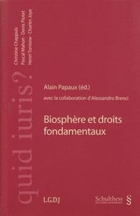 Alain Papaux - Biosphère et droits fondamentaux.
