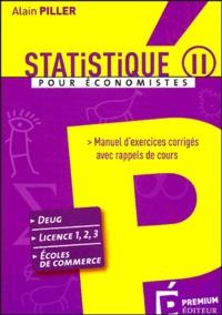 Statistique pour économistes - Manuel dexercices corrigés avec rappels de cours Tome 2.pdf