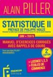 Alain Piller - Statistique pour économistes - Manuel d'exercices corrigés avec rappels de cours Tome 2.