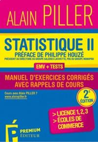 Statistique pour économistes- Manuel d'exercices corrigés avec rappels de cours Tome 2 - Alain Piller | Showmesound.org