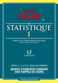 Statistique- Tome 1 - Alain Piller | Showmesound.org