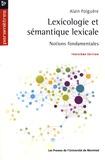 Alain Polguère - Lexicologie et sémantique lexicale - Notions fondamentales.