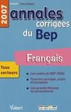 Alain Prost - Français BEP Tous secteurs - Annales corrigées.