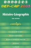 Alain Prost - Histoire-Géographie tous secteurs - Corrigés.
