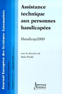 Accentsonline.fr Journal européen des systèmes automatisés (APII-JESA) Volume 34 N° 6-7 Septembre 2000 : Assistance technique aux personnes handicapées Image