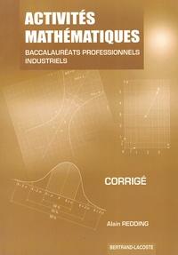 Alain Redding - Activités mathématiques Bac Pro industriels - Corrigé.
