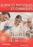 Alain Redding - Sciences Physiques et Chimiques CAP industriels et CAP tertiaires.