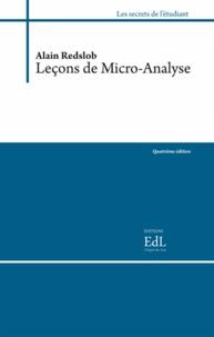 Alain Redslob - Leçons de micro-analyse - 2 volumes.