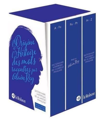 Alain Rey - Dictionnaire historique de la langue française - Coffret 3 volumes.
